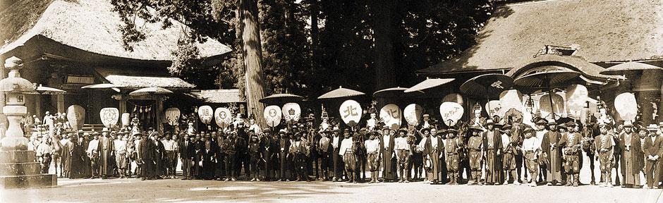 昭和16年 若一王子神社境内にて十騎勢揃い